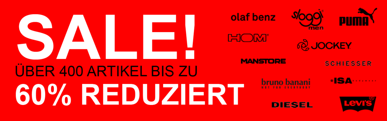SALE im Underwear-Shop