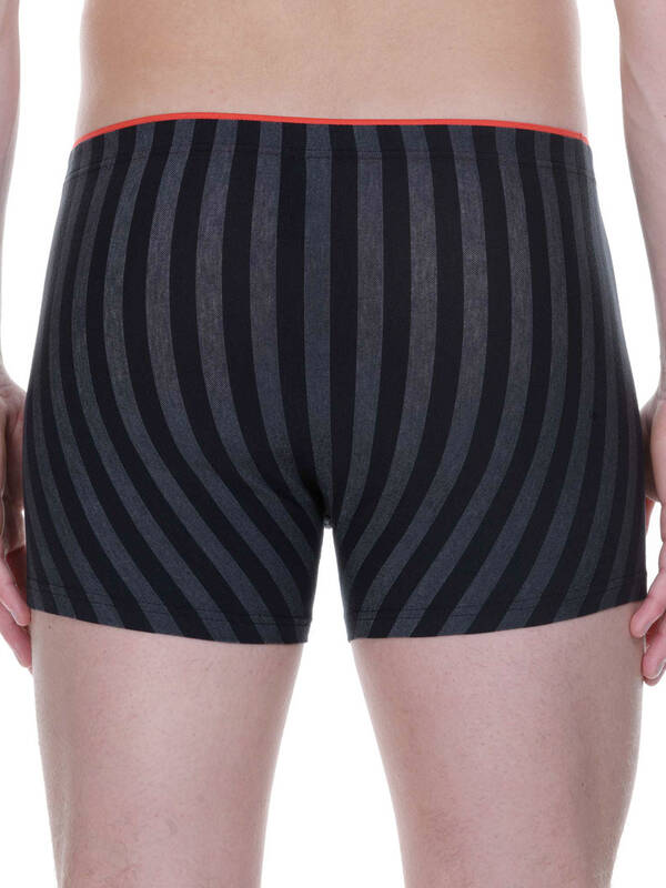 Bruno Banani Short Cross Walk schwarz/graumelange-stripes