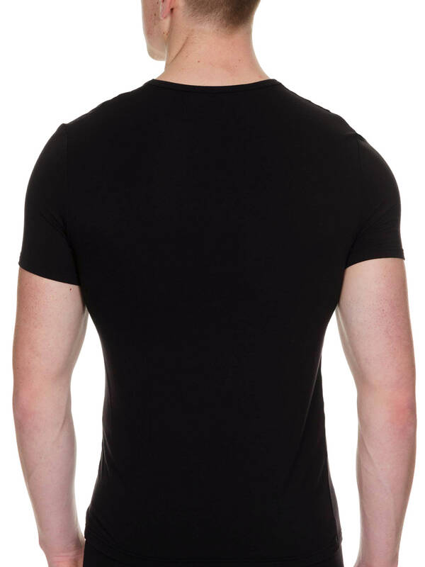 Bruno Banani Shirt V-Neck Body Milk schwarz