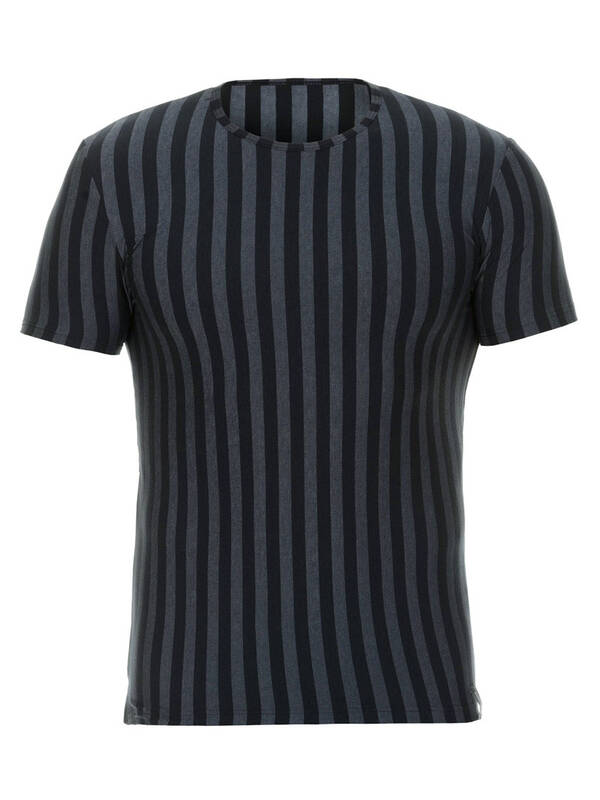 Bruno Banani Shirt Cross Walk schwarz/graumelange-stripes