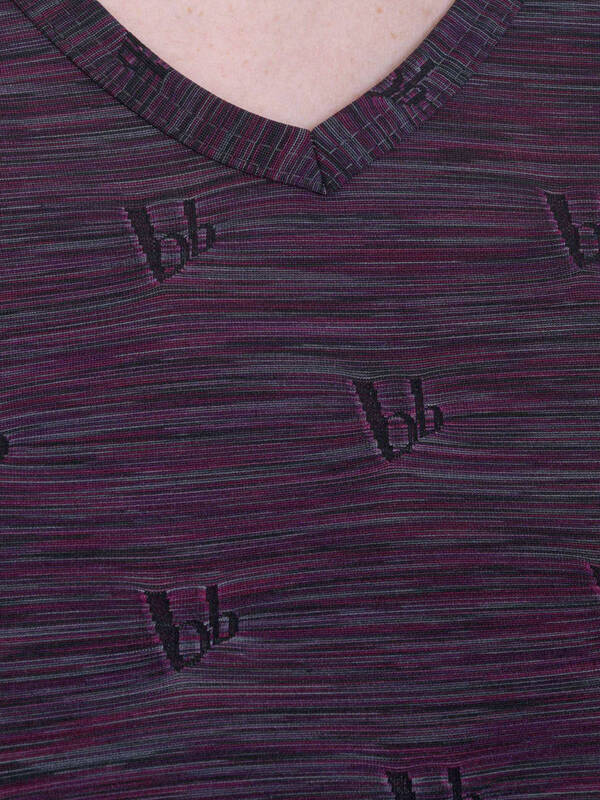 Bruno Banani V-Shirt Video Flicker bordeaux-melange