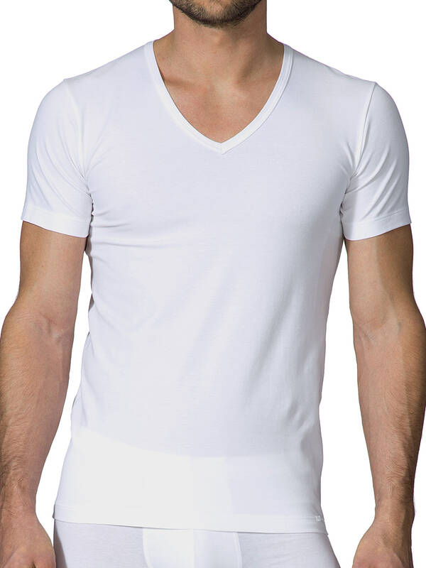 CALIDA Focus V-Shirt weiss