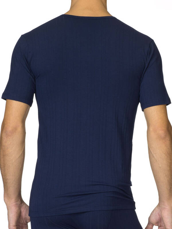 CALIDA Pure & Striped V-Shirt dark blue