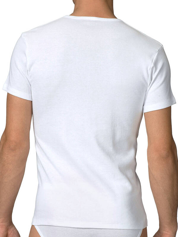 CALIDA Cotton 1:1 V-Shirt weiss