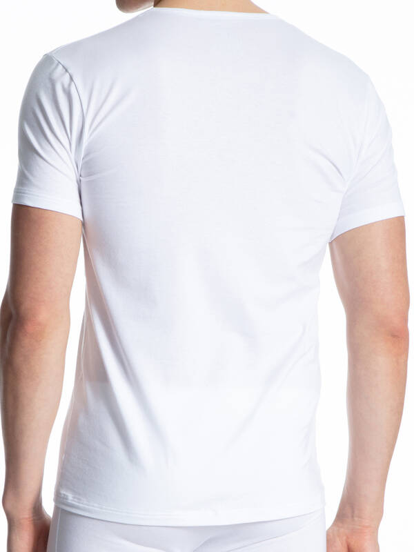 CALIDA Cotton Code Tshirt V-Neck weiss