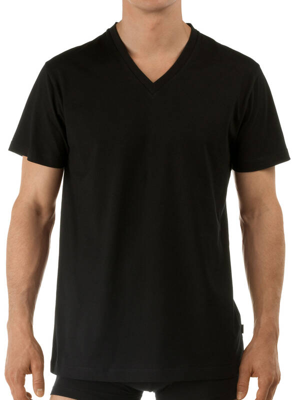 CALIDA Activity Cotton V-Shirt schwarz