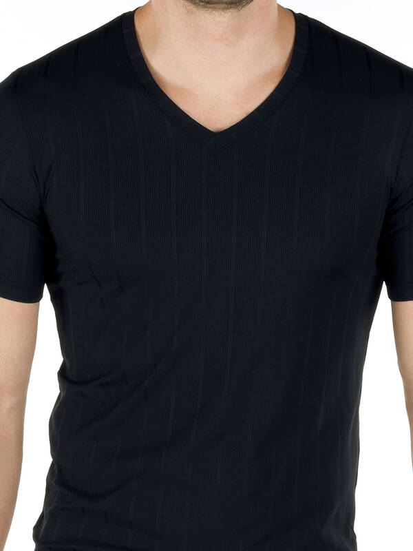 CALIDA Performance V-Shirt schwarz