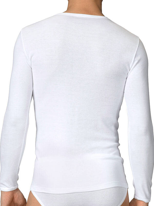 CALIDA Cotton 1:1 Shirt langarm weiss