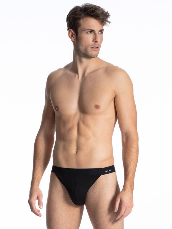 CALIDA Cotton Code Tanga schwarz