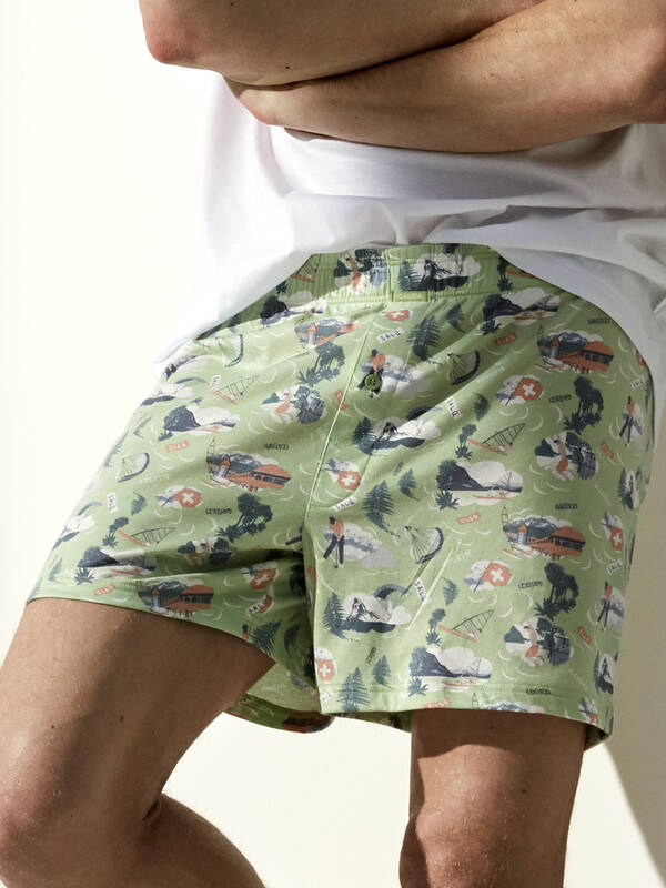 Calida Journey Time Boxer Shorts iris green