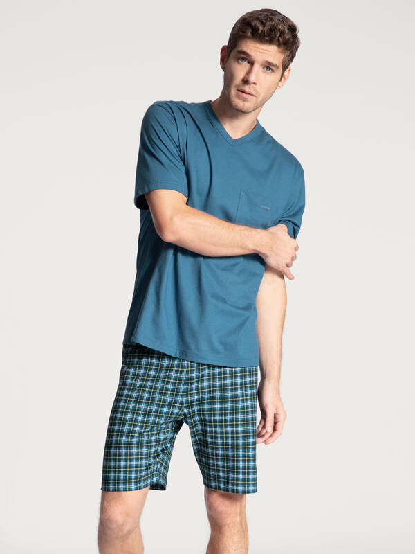 CALIDA Relax Imprint Pyjama kurz star-blue