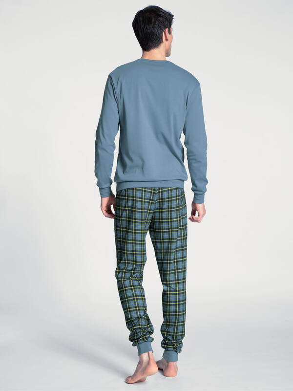 CALIDA Casual Warmth Pyjama flint-stone