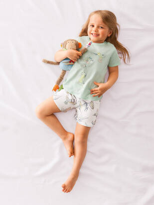 Calida Little Kolibri Pyjama kurz opal blue
