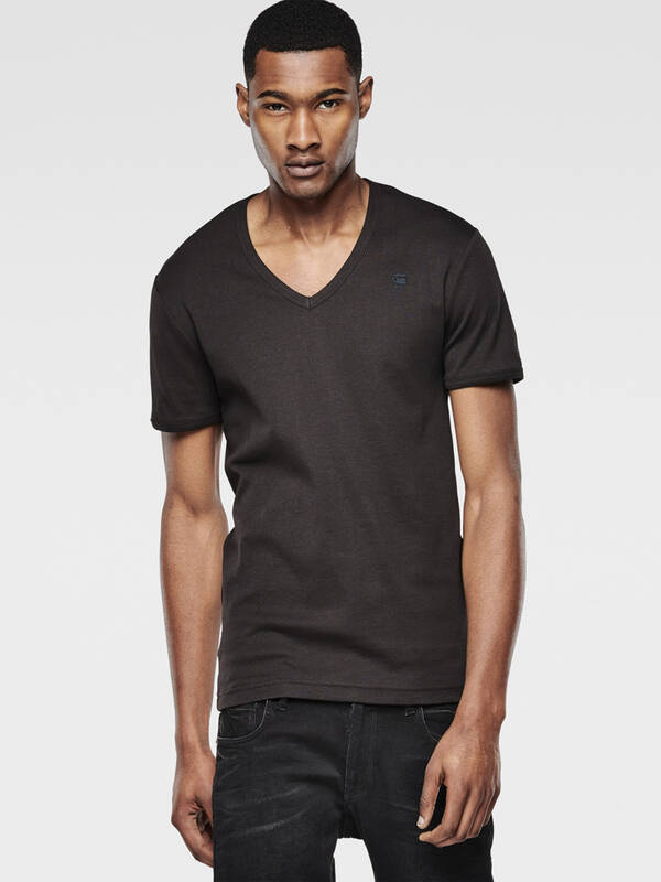 G-Star raw Men Base 2erPack Vshirt slim fit black