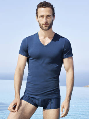 HANRO Cotton Superior V-Shirt