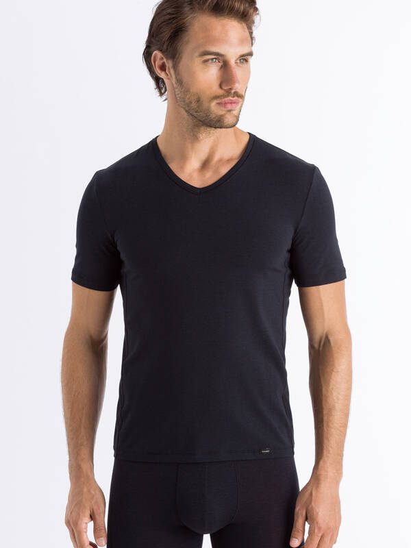HANRO Natural Function V-Shirt deep-black