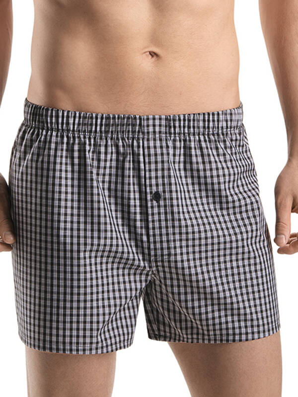 Hanro Fancy Woven Boxer black check