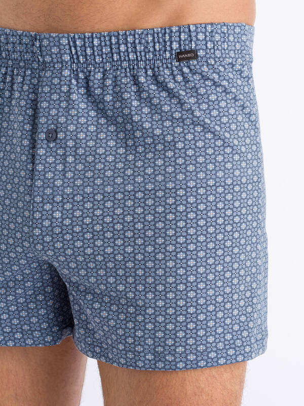HANRO Elias Boxer blue/minimal-ornament