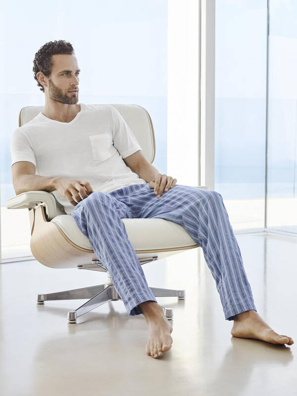 HANRO Pyjama white/summer-stripe