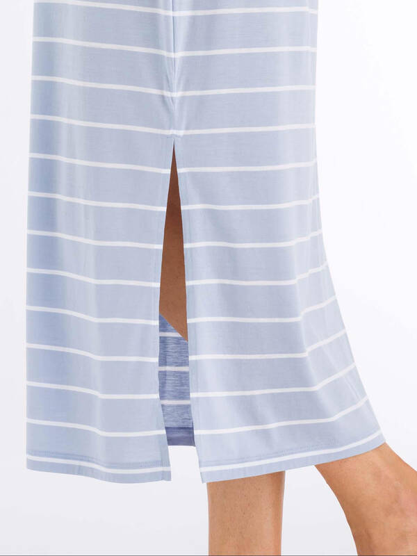 HANRO Loungeshirt Laura dreamy-blue-stripe