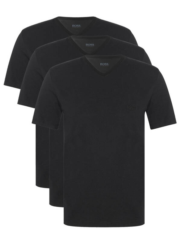 Hugo Boss Essential Tshirt V-Neck 3erPack black