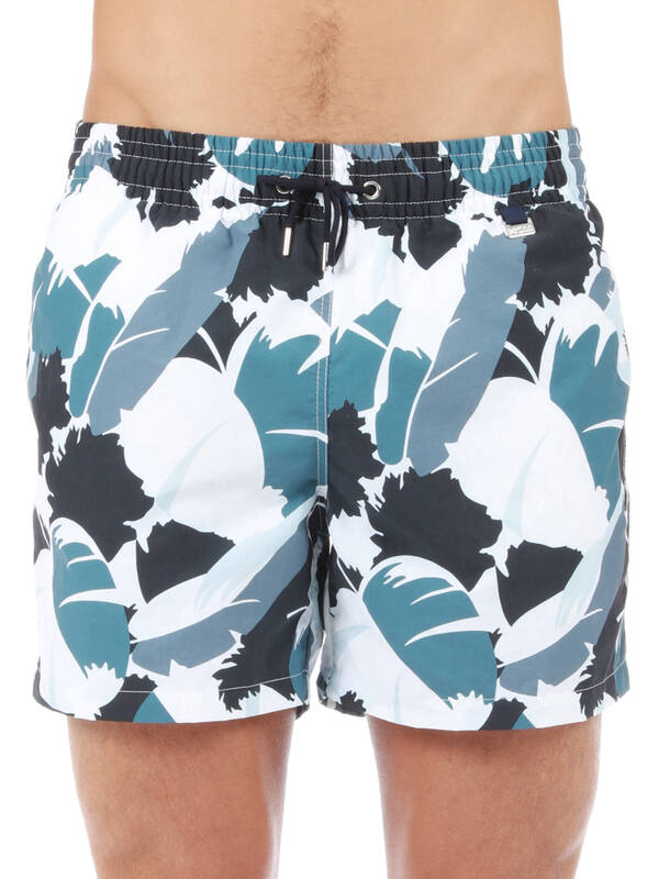 HOM Swim Beach Boxer Landscape blue