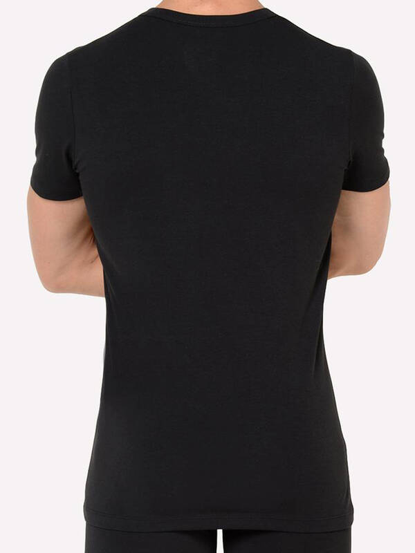 HOM Tshirt Supreme Cotton V-Neck black