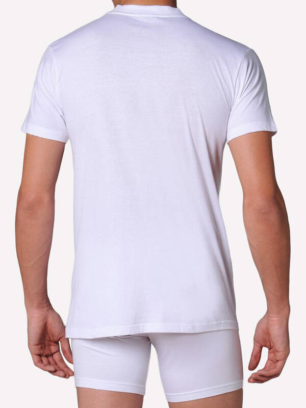 HOM Tshirt Harro New white/light-comb.