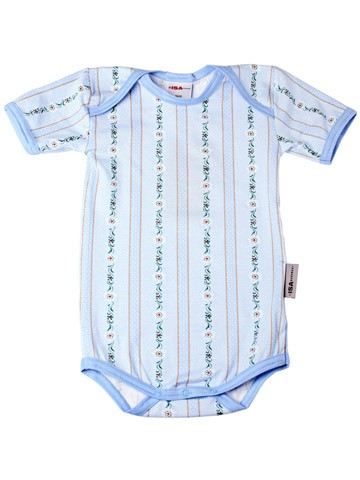ISA Baby Body 1/4 Arm hellblau