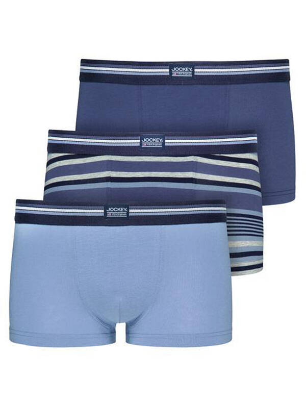 Jockey Fashion Short Trunk 3erPack con.-blue