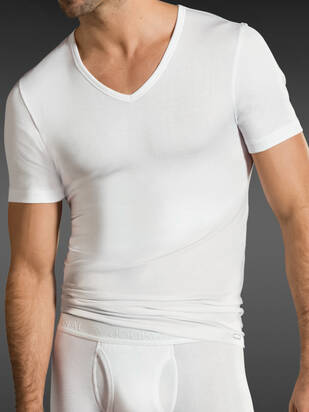 Premium Cotton Stretch V-Shirt