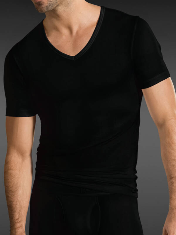 Jockey Premium Cotton Stretch V-Shirt black