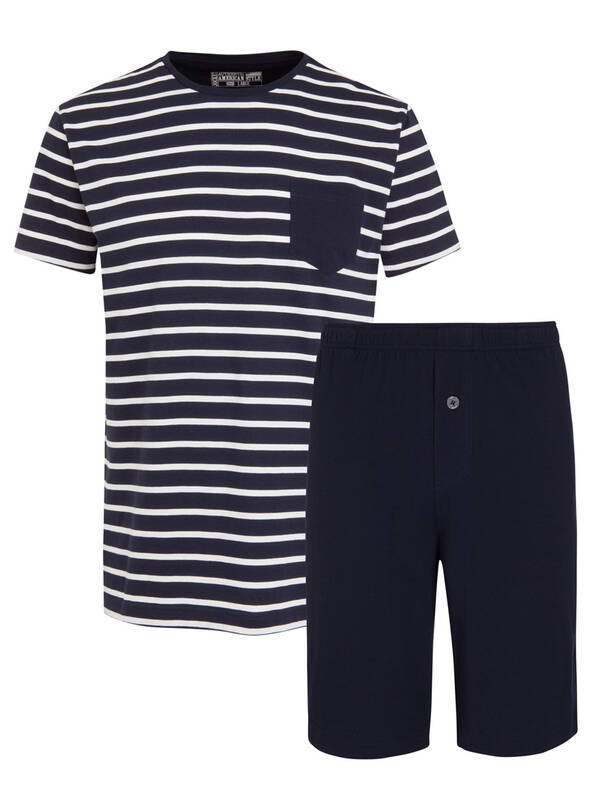 Jockey Night & Day Pyjama kurz navy