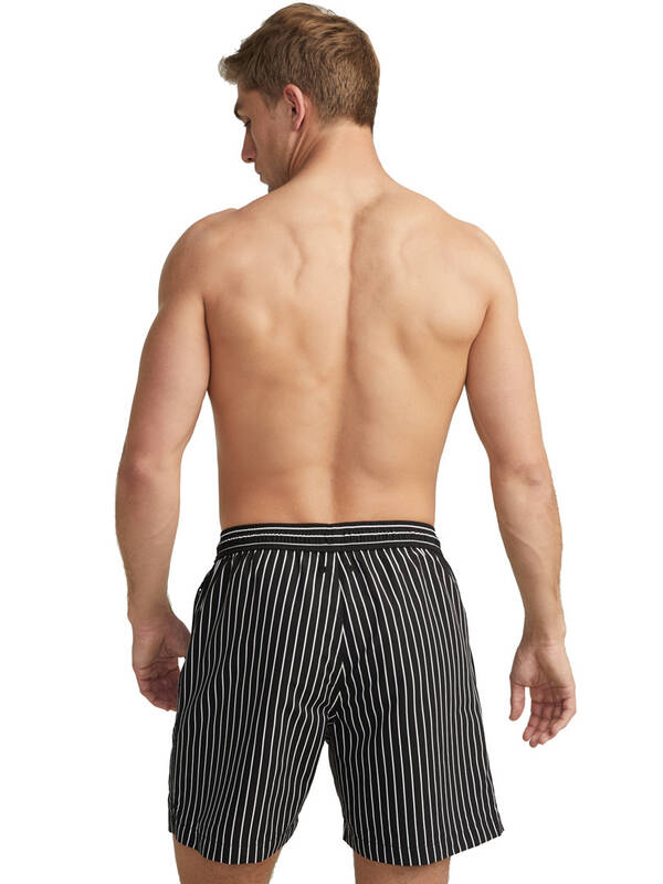 Jockey Beach Striped LongShort black