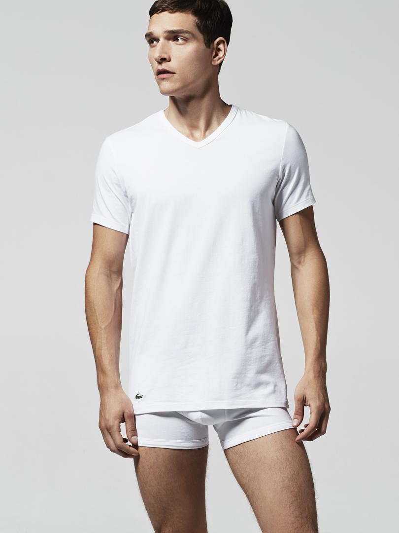 2er Pack LACOSTE T Shirts V Neck Colours | Bonvenon Webshop