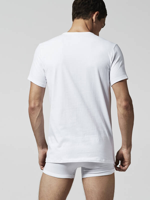 Lacoste Colours V Neck Tee 2erPack weiss