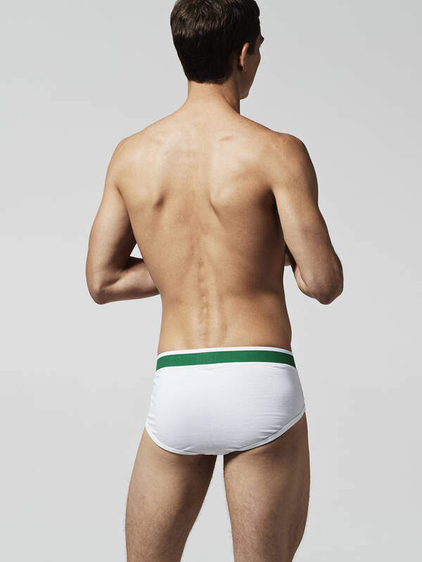 Lacoste Colours Brief 2erPack weiss