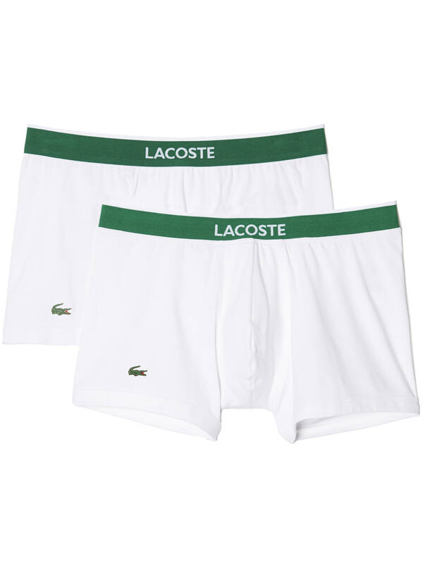 Lacoste Colours Trunk 2erPack weiss