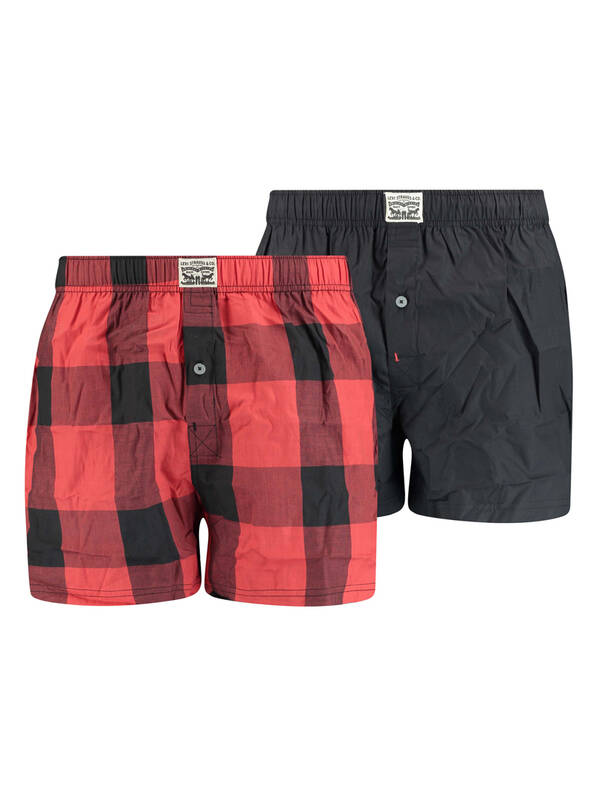 Levis 2erPack Woven Boxer red