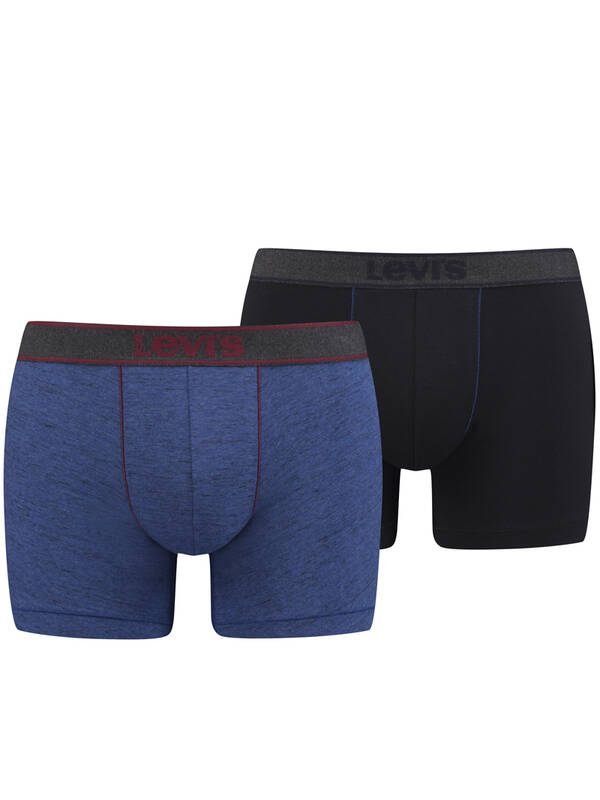 Levis 2erPack CottonStretch BoxerBrief heather-sodalite-blue