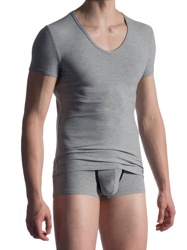 Manstore M811 V-Neck low Tshirt grey