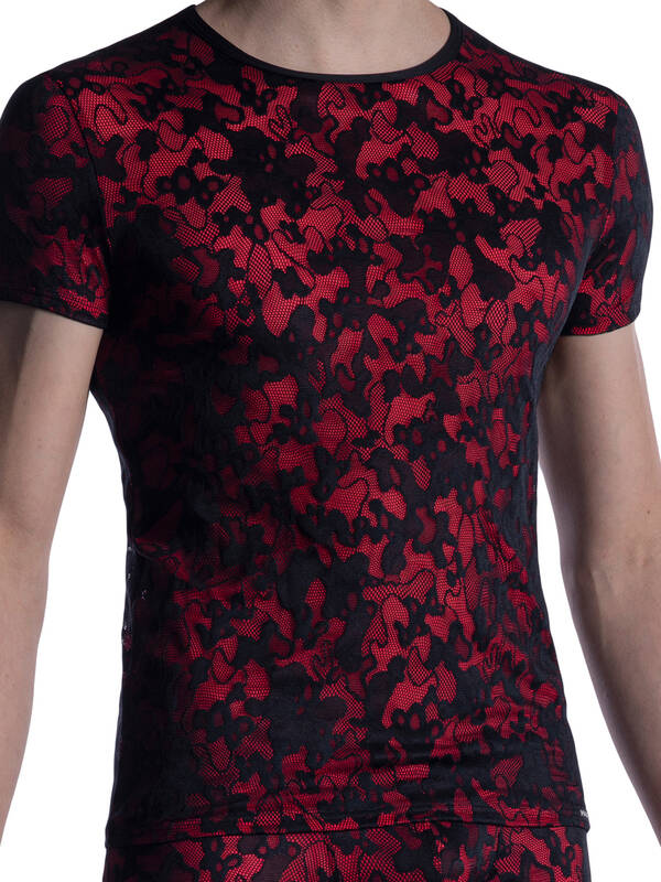 Manstore M2006 Casual Tshirt black/red