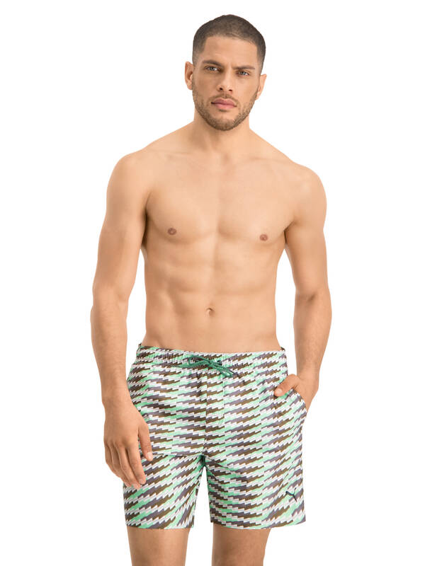 PUMA Swim Short medium-length mint/olive