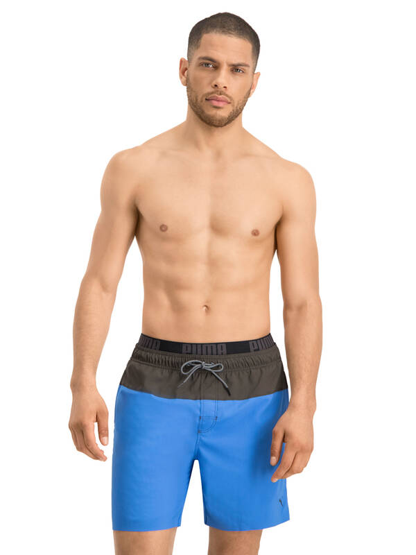 PUMA Swim Logo Short medium-length blue/grey