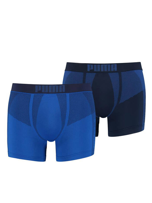 Puma 2erPack Active Seamless Boxer blue-combo
