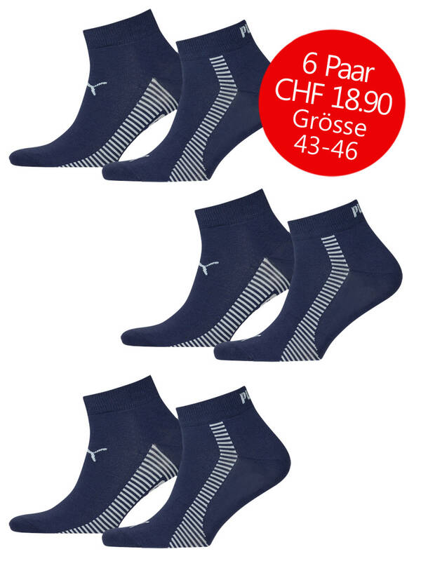 Puma Quarter 6erPack Promotion new navy 43-46