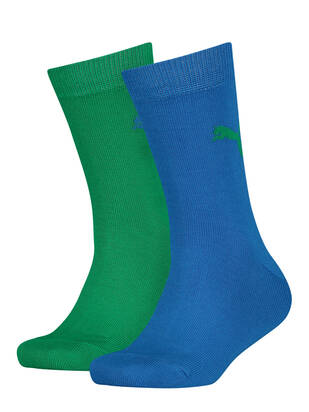 Puma Kids Socks 2erPack Easy Rider blue green combo