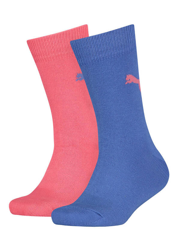 Puma Kids Socks 2erPack Easy Rider blue coral combo