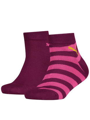 Puma Kids Socks Quarter 2erPack dark purple combo