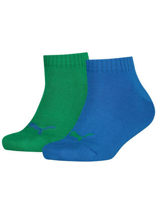Puma Kids Socks 2erPack Quarter blue green combo